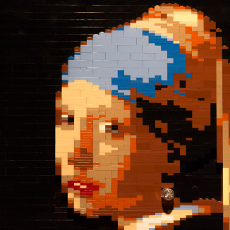 Vermeer's Girl with a Lego Earring in Amsterdam