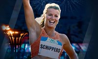 Dafne Schippers builds up to Rio Olympics on streets of Manchester