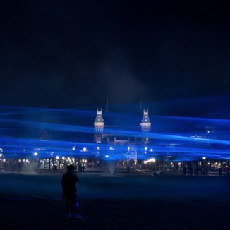 Video: central Amsterdam under water in a poetic light display