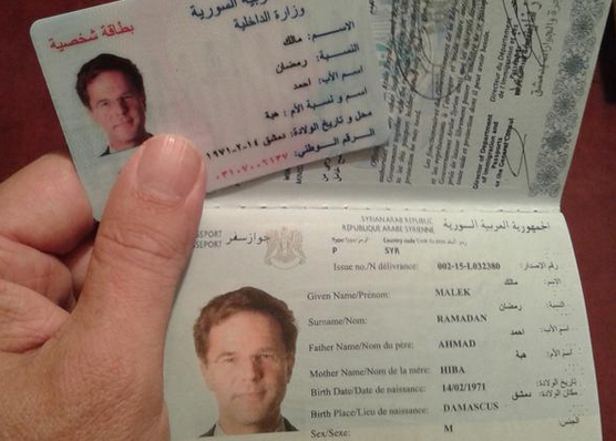 Dutch journalist buys fake syrian passport with prime ministers photo harald doornbos via twitter ccuart Choice Image