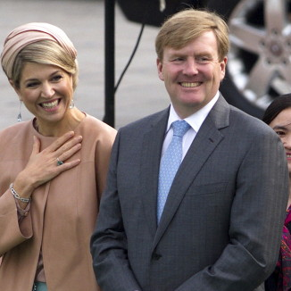 Queen Maxima and King Willem-Alexander of the Netherlands open the doors to one of their lavish palaces for the first time