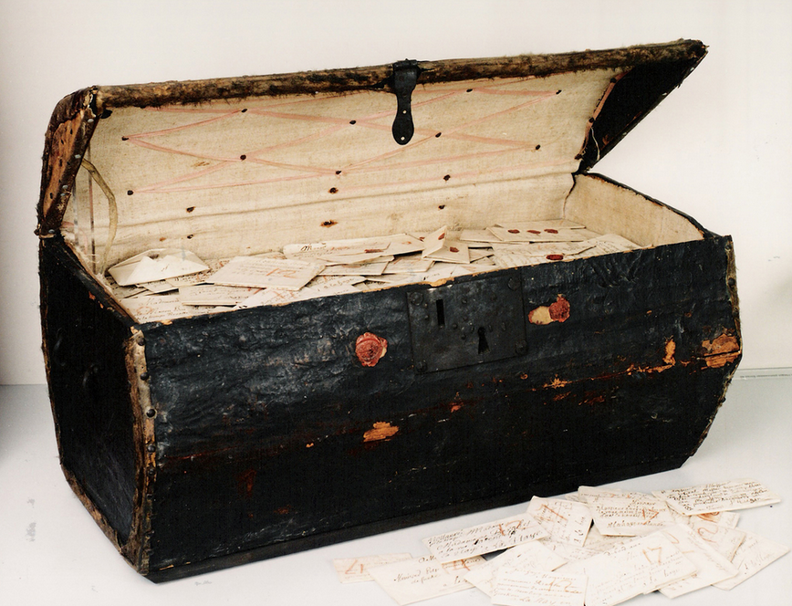 the trunk with letters