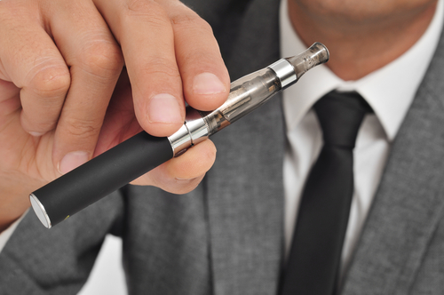 vaping with an electronic cigarette