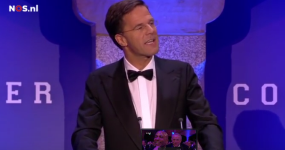 Rutte's comedy routine boosts VVD in the polls