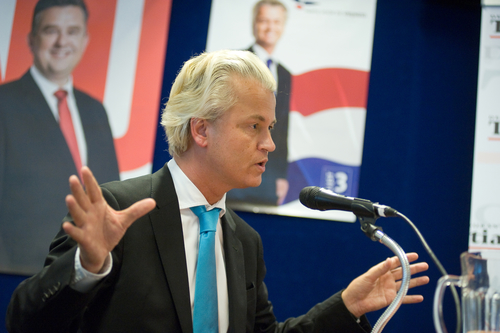 Geert Wilders during the 2012 election campaign. Photo: Depositphotos.com