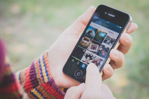Instagram on a mobile phone.