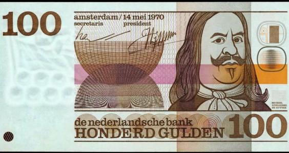 Time runs out for the 100 guilder note featuring Michiel de Ruyter