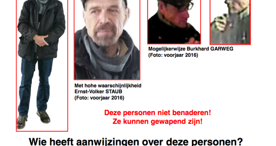 Three Red Army Faction members thought to be hiding in the Netherlands