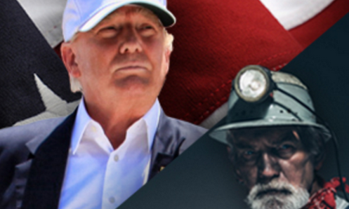 Dutch model is American miner on Trump jobs campaign poster