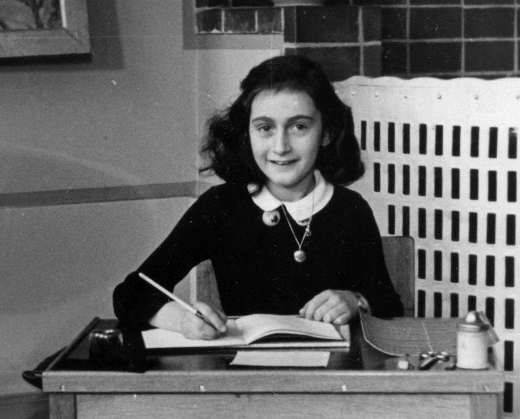 Anne Frank at school in 1940. Photo: Collectie Anne Frank Stichting Amsterdam via Wikimedia Commons