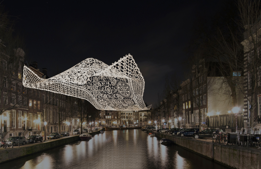 The Lace - Choi   Shine Architects. Photo: Amsterdam Light Festival