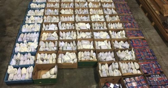 Six arrests as police seize over 1,000 kilos of heroin in container from Iran