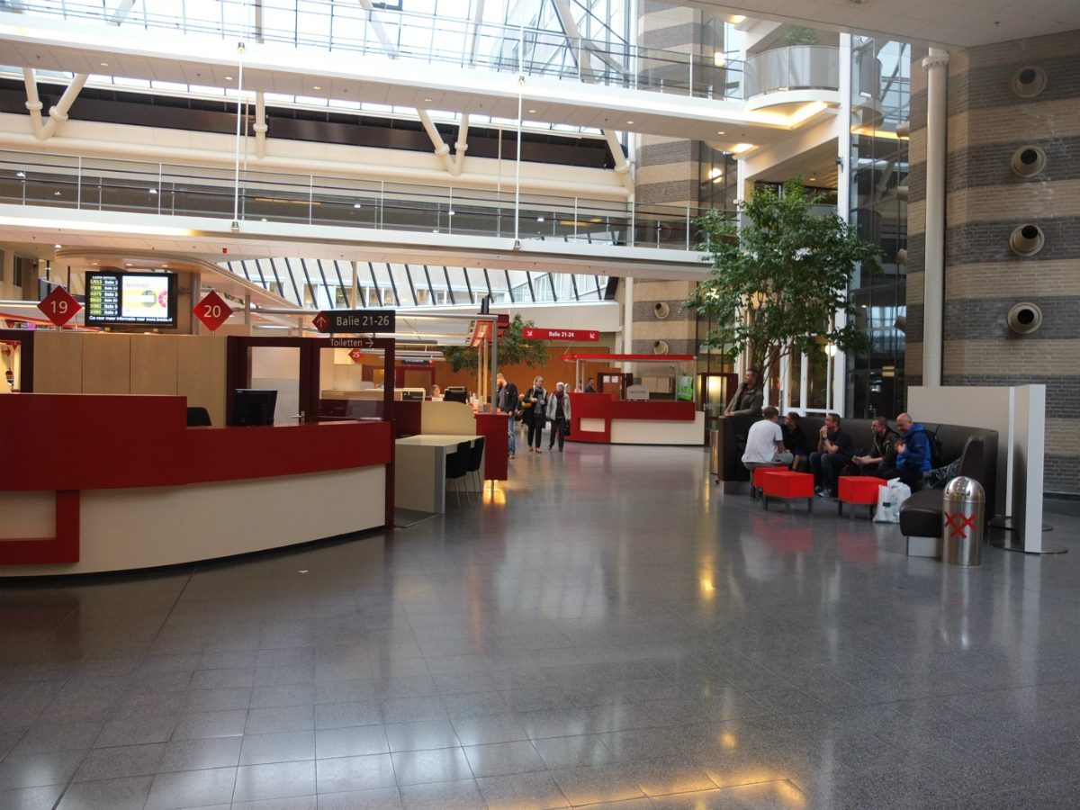 The reception area of the municipal council offices in Breda.