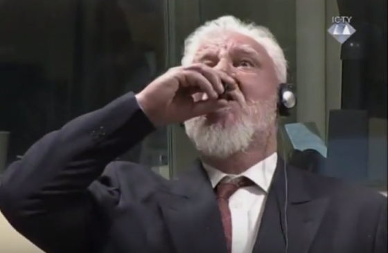 War criminal Praljak claims to ingest poison, dies