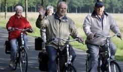 Pensioners on bikes