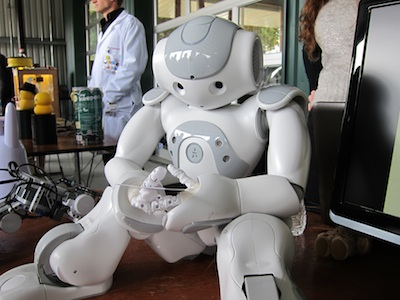 robot sitting down
