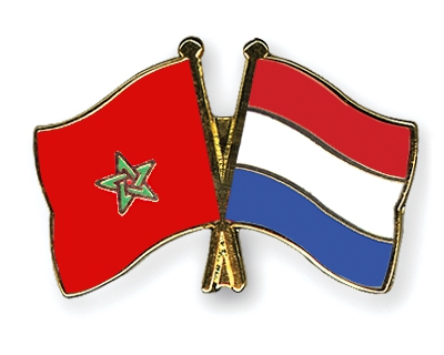 Moroccan and Dutch flags