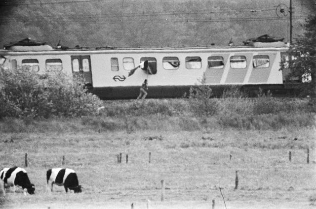 The hijacked train. Photo: National archives