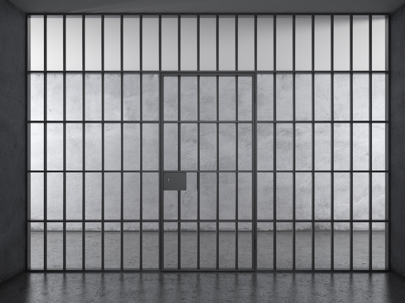 Prison interior with dramatic light