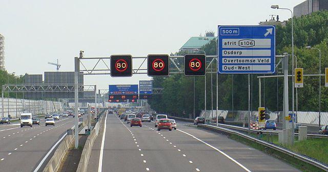 a10 amsterdam road traffic jam
