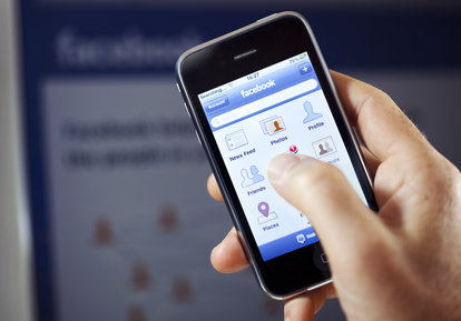 Facebook app on mobile phone