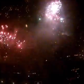 Video: New Year fireworks in Enschede, filmed by drone
