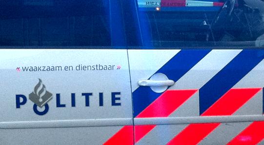 Dutch police car close-up