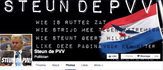 support the pvv facebook