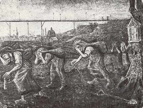 The miners return van gogh borinage