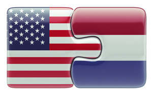 United States Netherlands Puzzle Concept