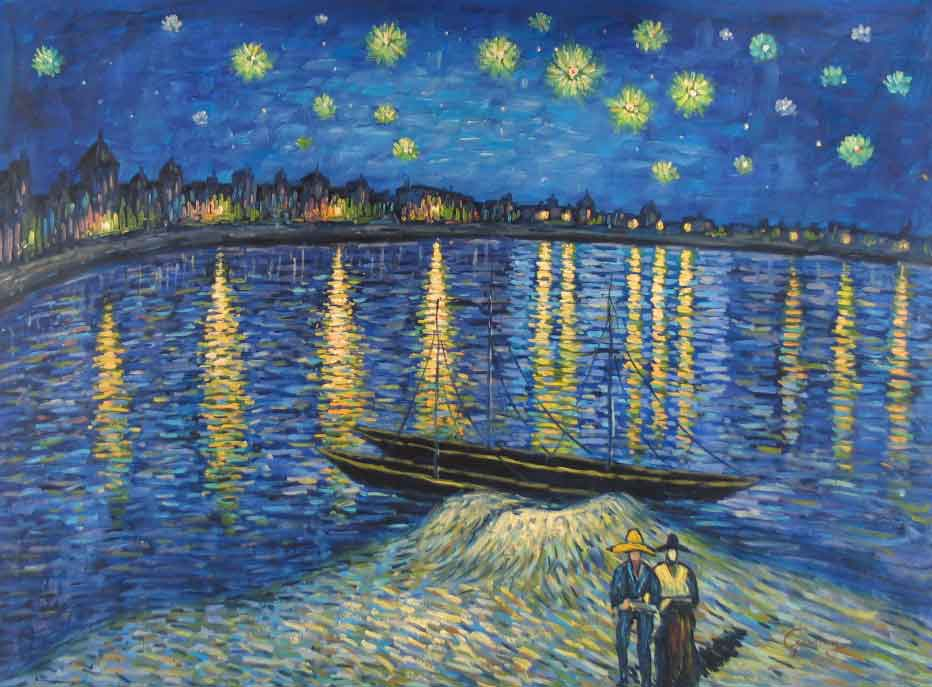 New book reveals details of vincent van gogh 39 s final years for Starry night over the rhone hd
