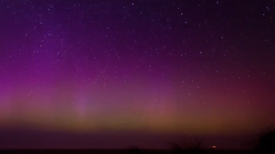 northern lights over Terschelling