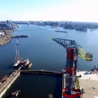 Video: drone footage of three Amsterdam towers