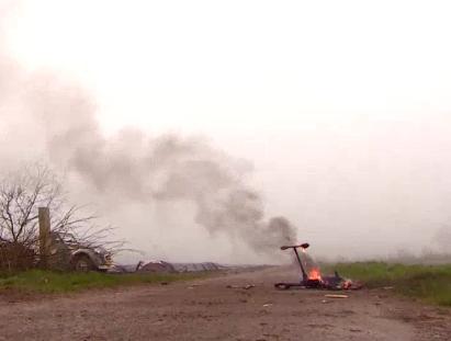burning drone