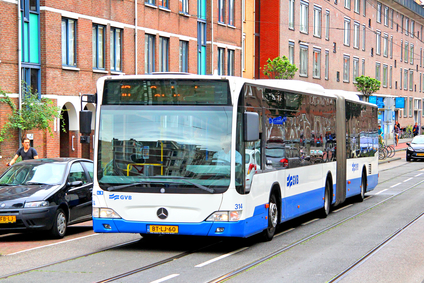 A bus in Amsterdam.
