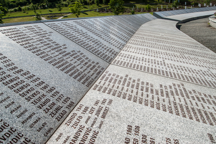 Part of the Srebrenica Genocide Memorial. Photo: Dinos Michail via Depositphotos.com