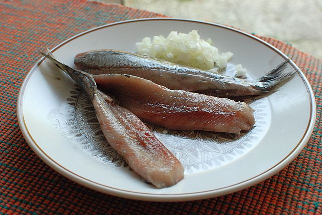 herring and onion