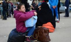 Akcakale - border gate refugees