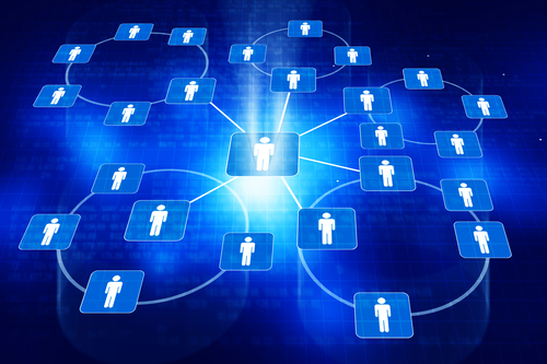 Business networking background