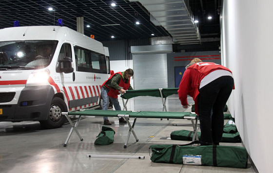 Red Cross volunteers at work Netherlands