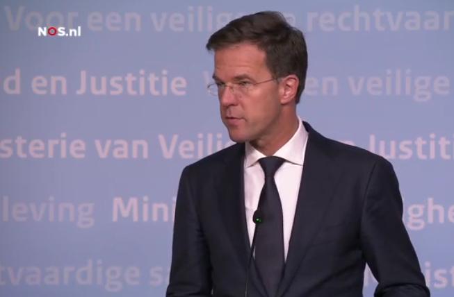 Rutte press conference Paris attack