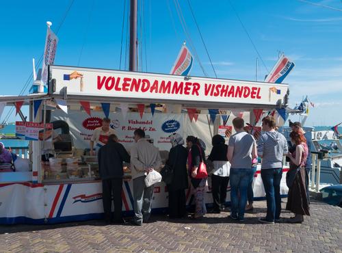 fish stall in volendam