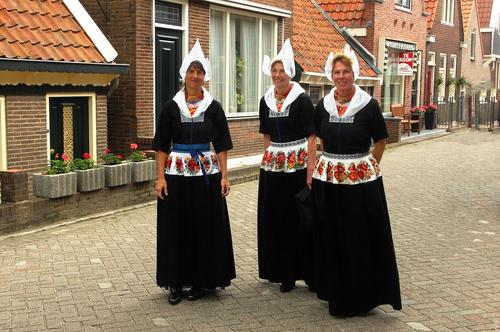 Women of village of Volendam, The Netherlands