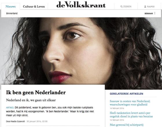 Screen shot: Volkskrant