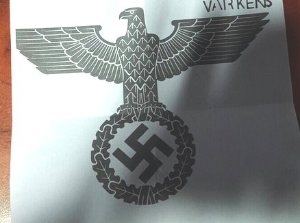 Nazi eagle, letter to mosques