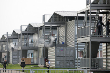 Accommodation for refugees at Ter Apel in Drenthe.