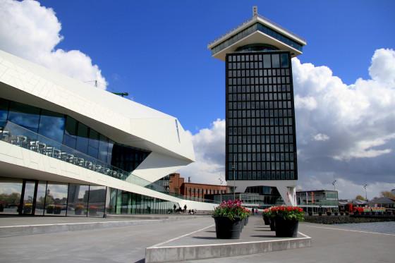Amsterdam's new outlook point, next to the Eye cinema complex. Photo: Thomas van Mens via Wikimedia Commons