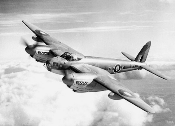 A Havilland Mosquito. Photo RAF via Wikimedia Commons