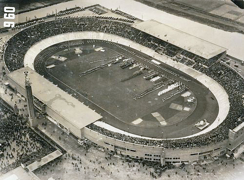 The Amsterdam stadium during the 1928 Olympics. Photo: Rijksmonumenten