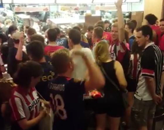 PSV fans sing anti-semitic song